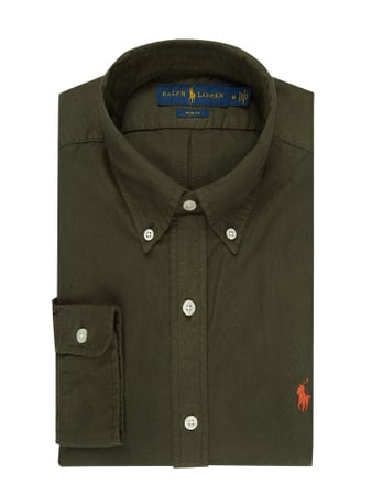 Polo Ralph Lauren Slim Fit Freizeithemd aus Oxford Grün - 1
