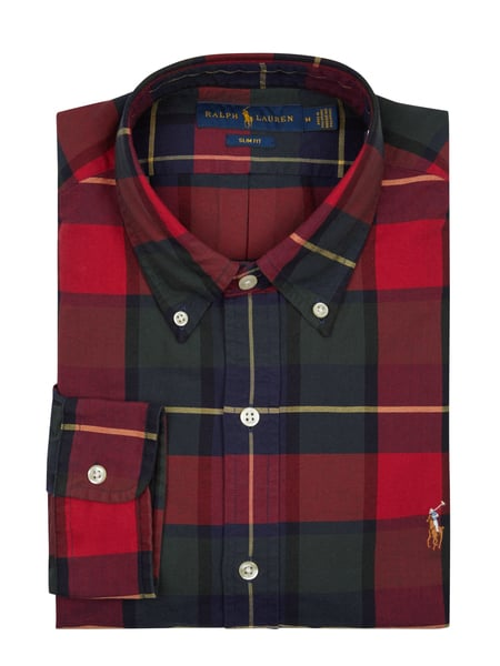 Polo Ralph Lauren Slim Fit Freizeithemd aus Oxford Rot - 1