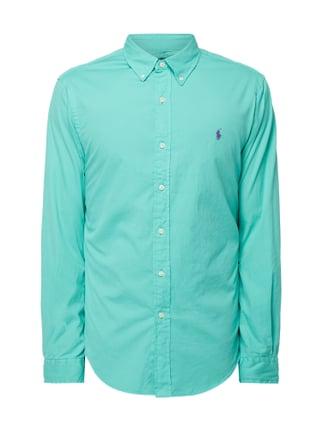 1f68340810022 Polo Ralph Lauren Slim Fit Freizeithemd mit Button-Down-Kragen Grün - 1 ...