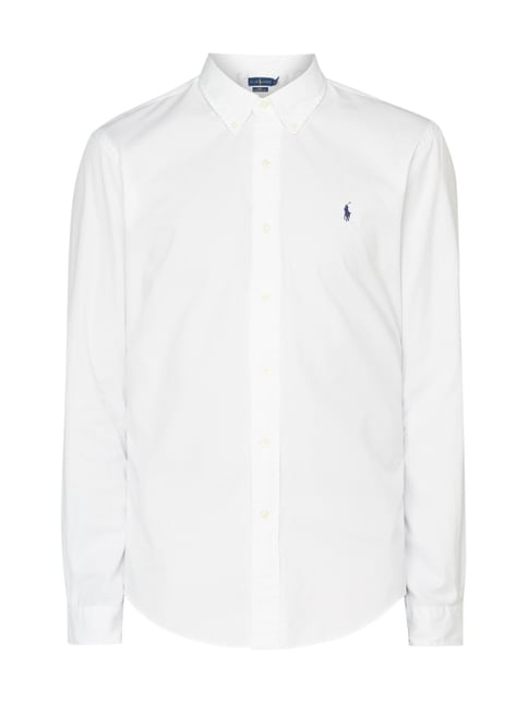 00585e77a2cbe3 Polo Ralph Lauren Slim Fit Freizeithemd mit Button-Down-Kragen Weiß - 1 ...