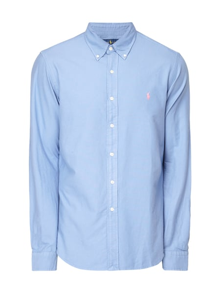 Polo Ralph Lauren Slim Fit Freizeithemd mit Button-Down-Kragen Bleu