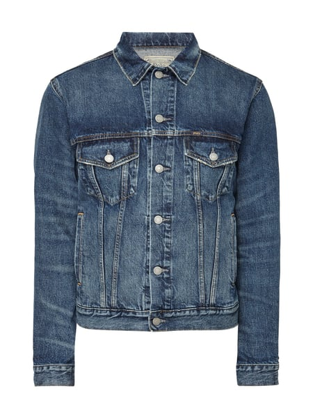 POLO-RALPH-LAUREN Slim Fit Jeansjacke im Used Look in Blau   Türkis ... e1cc729cec