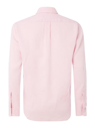 Polo Ralph Lauren Slim Fit Leinenhemd mit Button-Down-Kragen Pink - 1