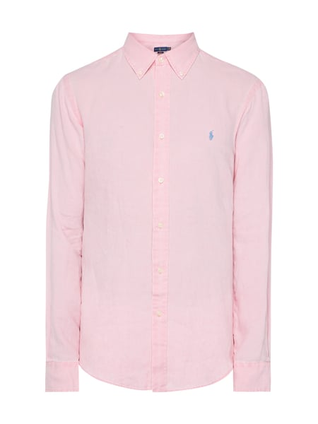 Polo Ralph Lauren Slim Fit Leinenhemd Rosa - 1