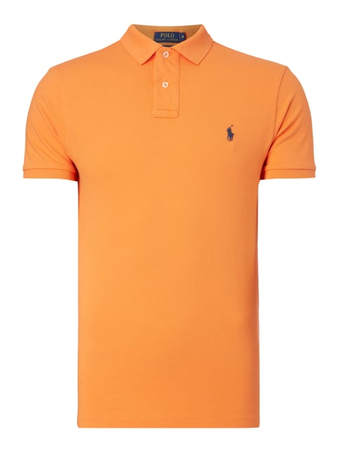 Slim Fit Poloshirt aus Baumwoll-Piqué Orange - 1