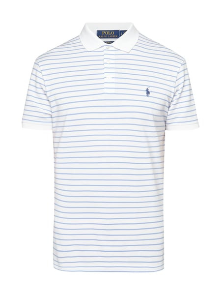 Polo Ralph Lauren Slim Fit Poloshirt mit Allover-Muster Weiß