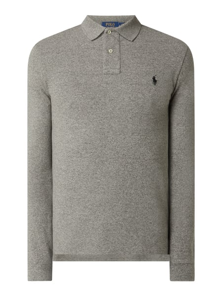 Polo Ralph Lauren Slim Fit Poloshirt mit Label-Stitching Grau - 1
