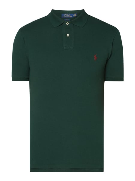 Polo Ralph Lauren Slim Fit Poloshirt mit Logo-Stickerei Grün - 1