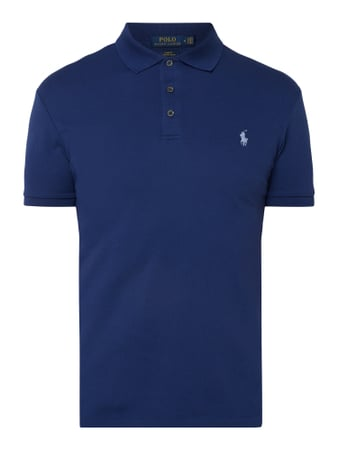 Polo Ralph Lauren Slim Fit Poloshirt mit Logo-Stickerei Blau - 1
