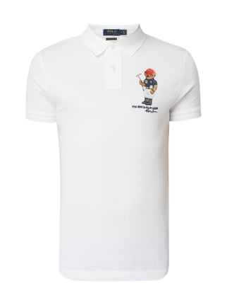 Polo Ralph Lauren Slim Fit Poloshirt mit Polo Bear-Stickerei Weiß - 1 ... 4fb5fb2d74