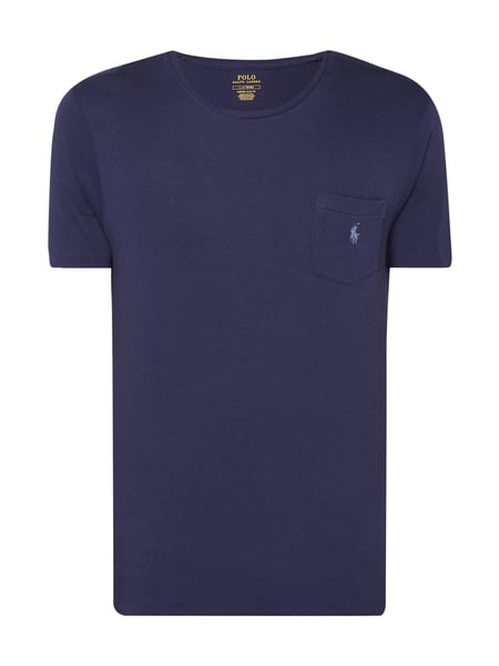Polo Ralph Lauren Slim Fit T-Shirt mit Brusttasche Marineblau