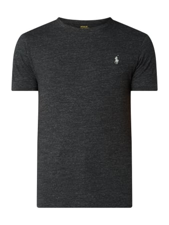 Polo Ralph Lauren Slim Fit T-Shirt mit Logo-Stickerei Grau - 1