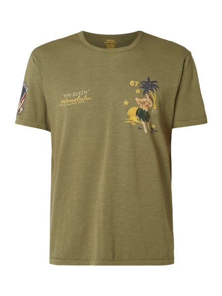 52d375661efa POLO-RALPH-LAUREN Slim Fit T-Shirt mit Prints in Grün online kaufen ...