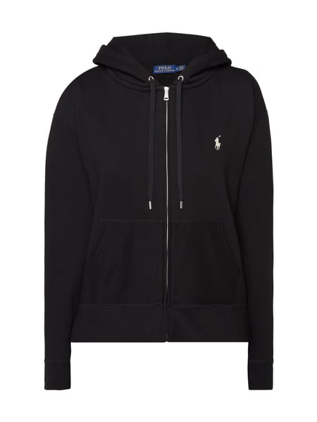super popular e9929 44988 POLO-RALPH-LAUREN Sweatjacke mit Kapuze in Grau / Schwarz ...