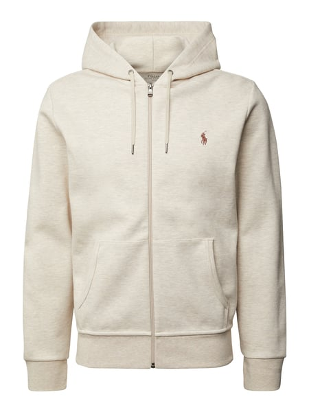 Polo Ralph Lauren Sweatjacke mit Label-Stitching Beige - 1
