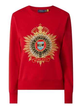 Polo Ralph Lauren Sweatshirt mit Logo-Stickerei Rot - 1