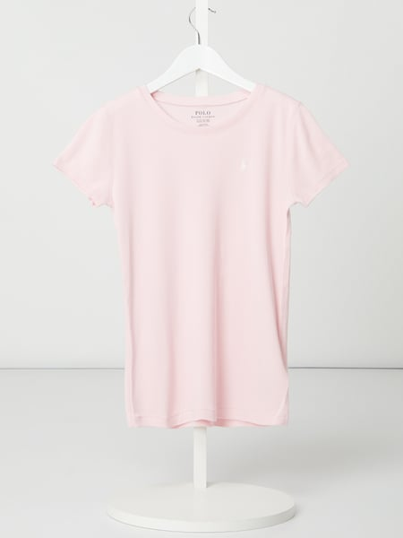 Polo Ralph Lauren Childrenswear T-shirt van mix van katoen en modal Roze - 1