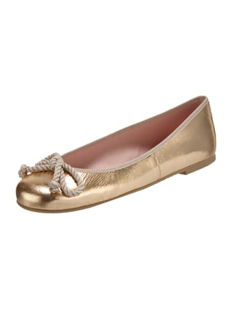 Pretty Ballerinas Ballerinas aus Lackleder Gold - 1