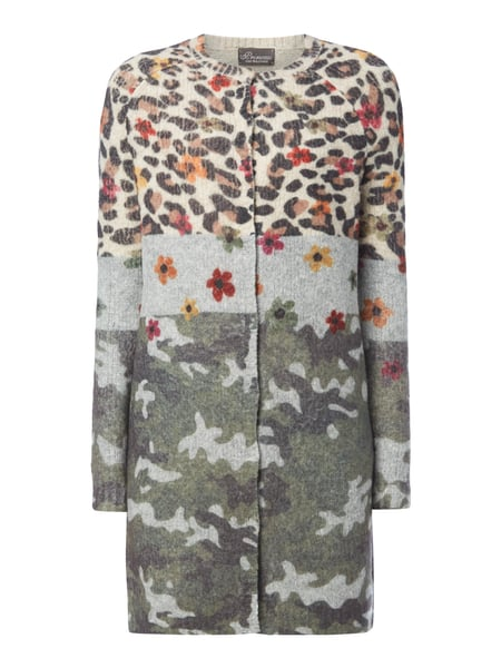 86316053 PRINCESS-GOES-HOLLYWOOD Longcardigan mit Mustermix in Braun online ...
