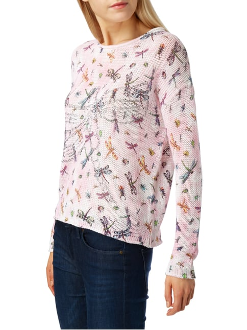 Princess Goes Hollywood Pullover mit Allover-Muster und Ziersteinen Rosé - 1