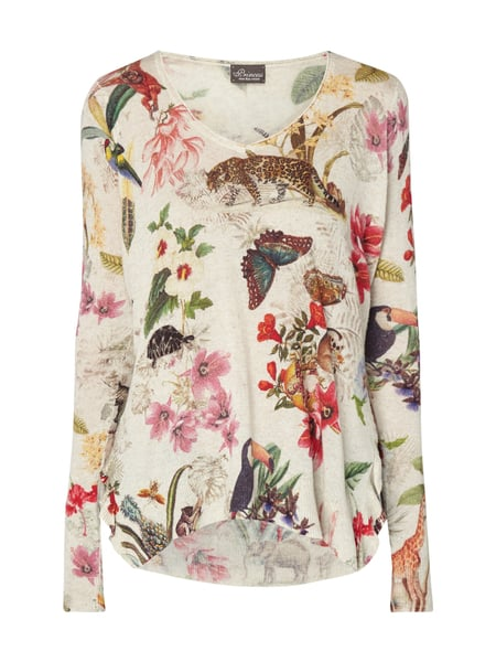 Princess Goes Hollywood Pullover mit Allover-Print Sand