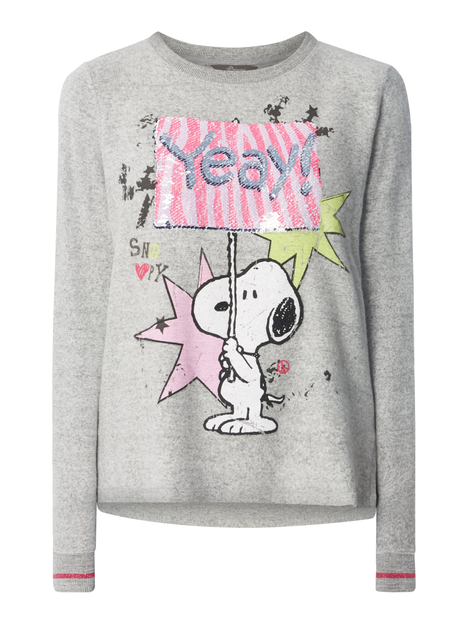 princess goes hollywood pullover mit peanuts print in. Black Bedroom Furniture Sets. Home Design Ideas