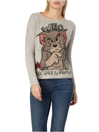Princess Goes Hollywood Pullover mit Tom&Jerry™-Print Hellgrau - 1