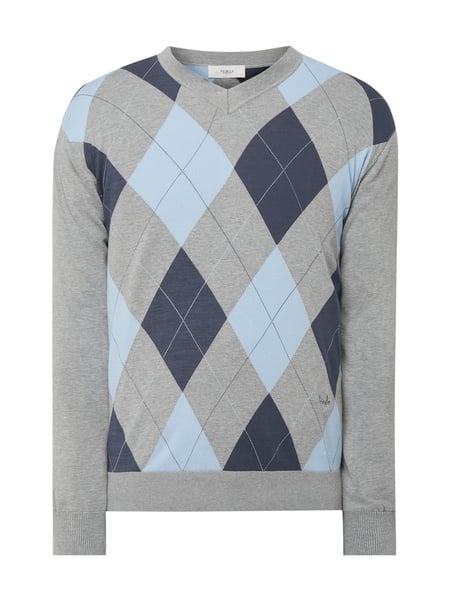 Pringle Of Scotland Pullover mit Argylemuster Silber - 1