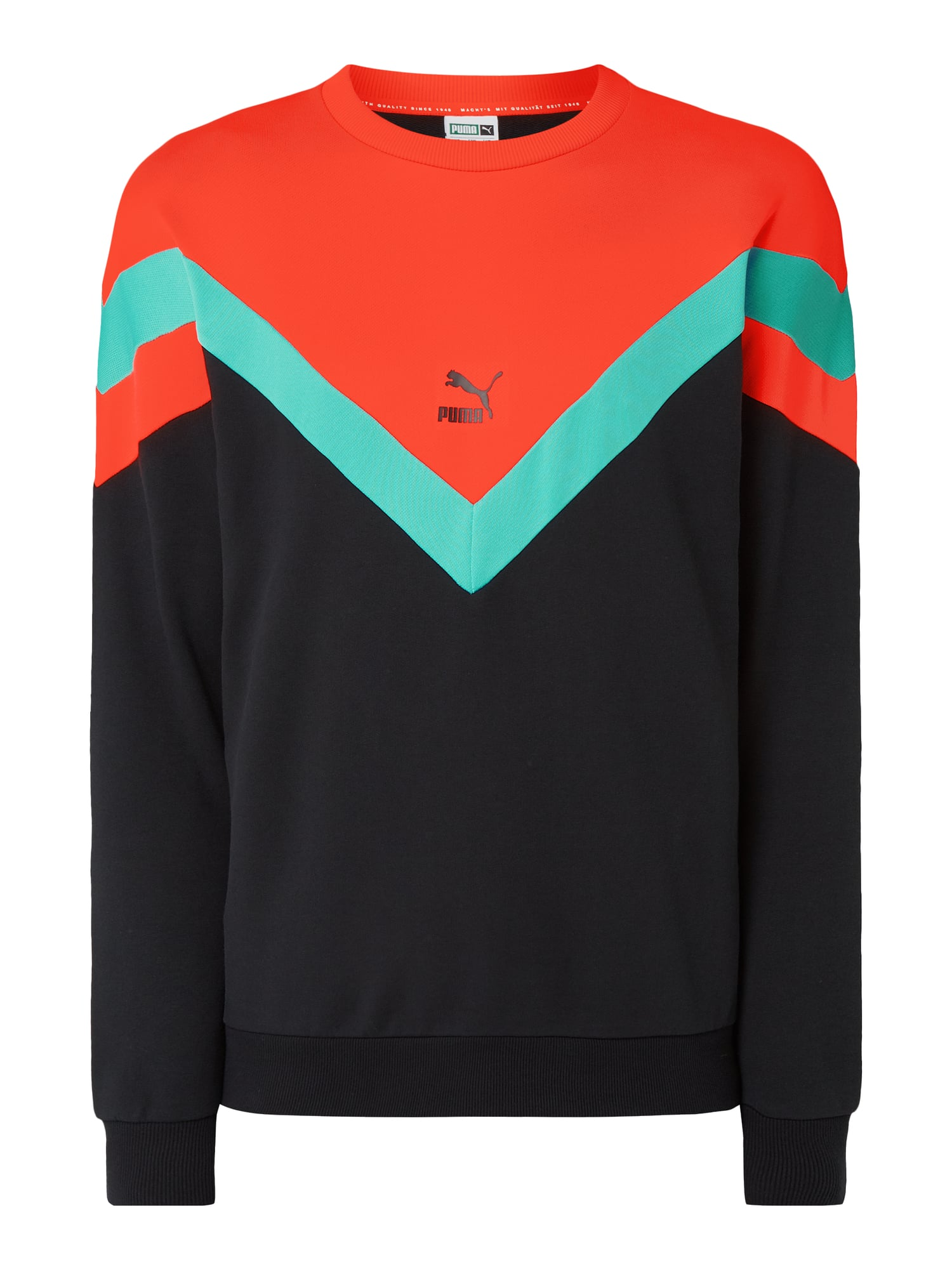 PUMA PERFORMANCE Sweatshirt im dreifarbigen Design in Orange online kaufen (4021632) ▷ P&C Online Shop