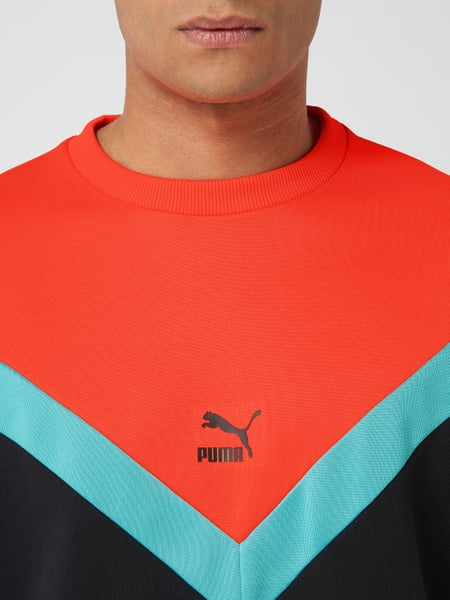 PUMA PERFORMANCE – Sweatshirt im dreifarbigen Design – Orange