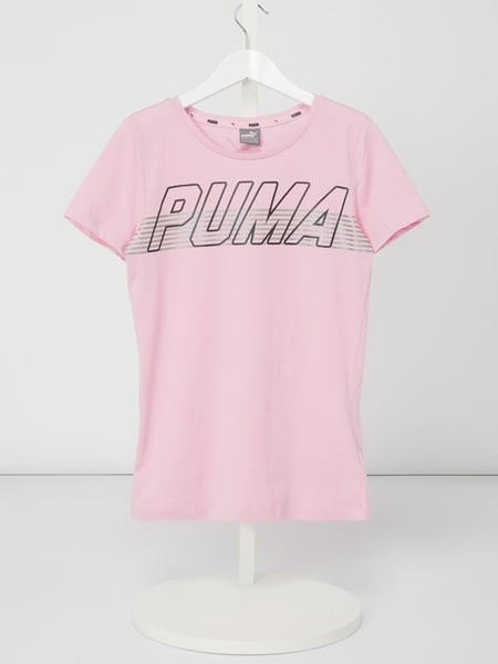 Puma Regular Fit T-Shirt mit Logo-Print Rosa - 1