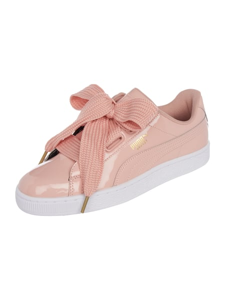 Puma Sneaker 'Basket Heart' in Lackoptik Rosa - 1