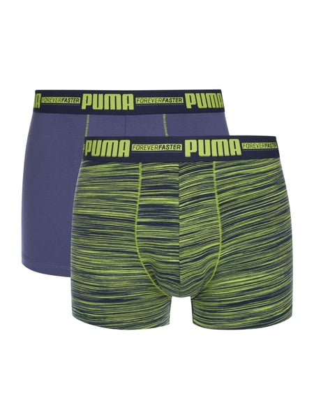 Puma Boxer Space Dye - Trunks im 2er-Pack Neon Gelb