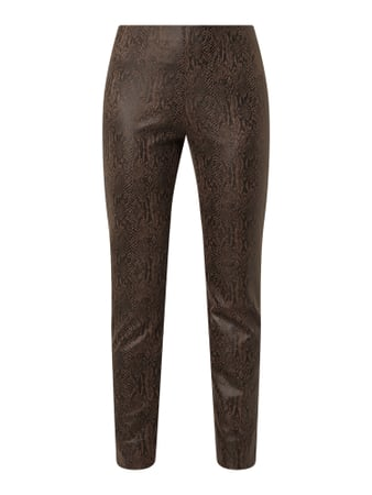Raffaello Rossi Slim Fit Stretchhose in Snake-Optik Braun - 1