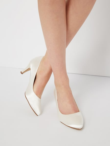 Rainbow Lottie - Pumps aus Satin Offwhite