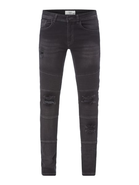 Redefined Rebel Destroyed Slim Fit Jeans Dunkelgrau