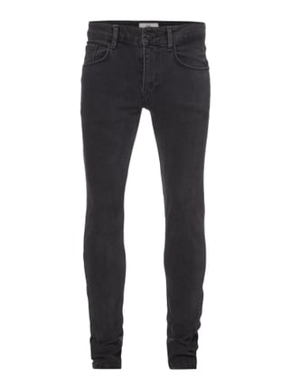 Skinny Fit 5-Pocket-Jeans Grau / Schwarz - 1