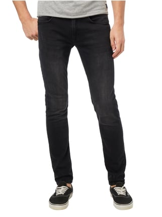 Redefined Rebel Slim Fit 5-Pocket-Jeans im Used Look Schwarz - 1