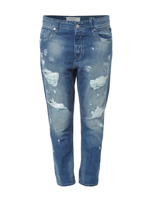 Boy Fit Jeans im Destroyed Look Blau / Türkis - 1