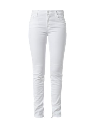 Skinny Fit Jeans aus Coloured Denim Weiß - 1