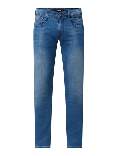 Replay Slim Fit Jeans mit Stretch-Anteil Modell 'Anbass' Blau - 1