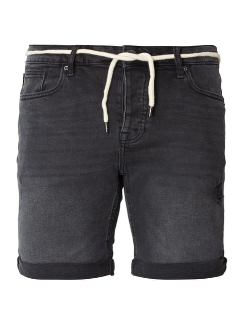 REVIEW 5-Pocket-Jeansshorts im Destroyed Look Grau   Schwarz - 1 ... 2d793e189d