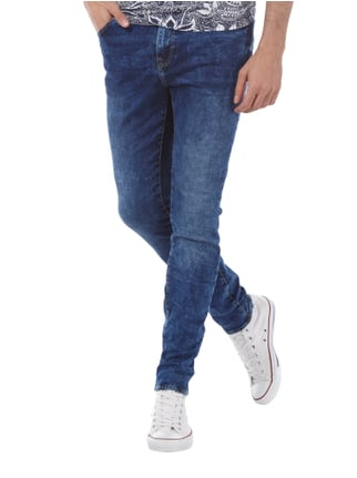 REVIEW Acid Washed Jeans im Skinny Fit Dunkelblau - 1