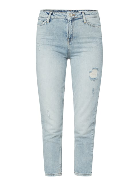 Anti Fit Jeans im Destroyed Look Blau / Türkis - 1