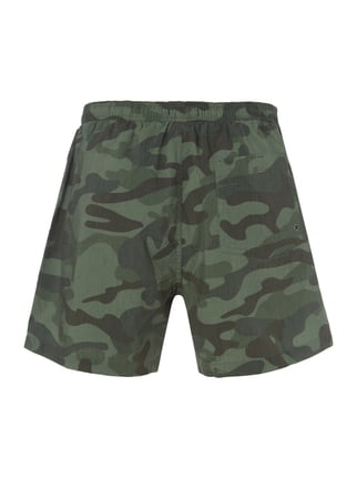 REVIEW Badeshorts mit Camouflage-Muster Olivgrün - 1