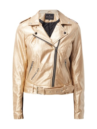 REVIEW Biker-Jacke in Metallicoptik Gold - 1