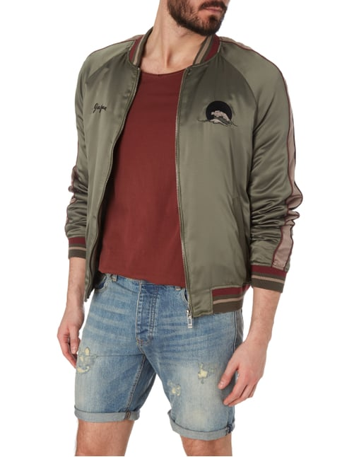 REVIEW Bomber aus Satin - wattiert Olivgrün - 1