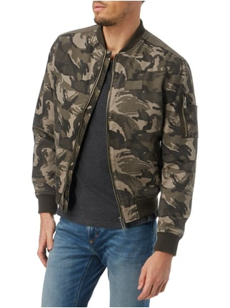 REVIEW Bomber mit Camouflage-Muster Olivgrün - 1
