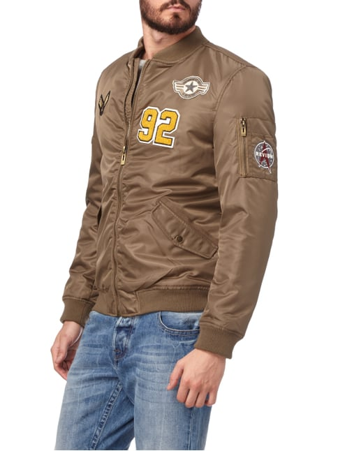 REVIEW Bomber mit Patches Olivgrün - 1