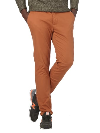 REVIEW Chino mit Gürtel Camel - 1